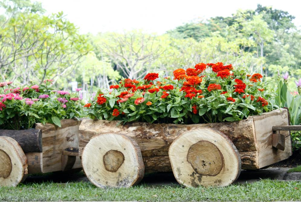 flowers-in-pots-in-wooden-box-on-background-of-garden (1)