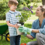 mother-and-son-gardening